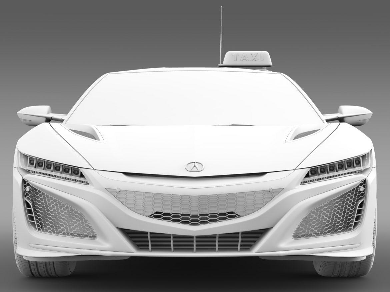 acura nsx taxi 2016 3d model 3ds fbx c4d lwo ma mb hrc xsi obj 217761