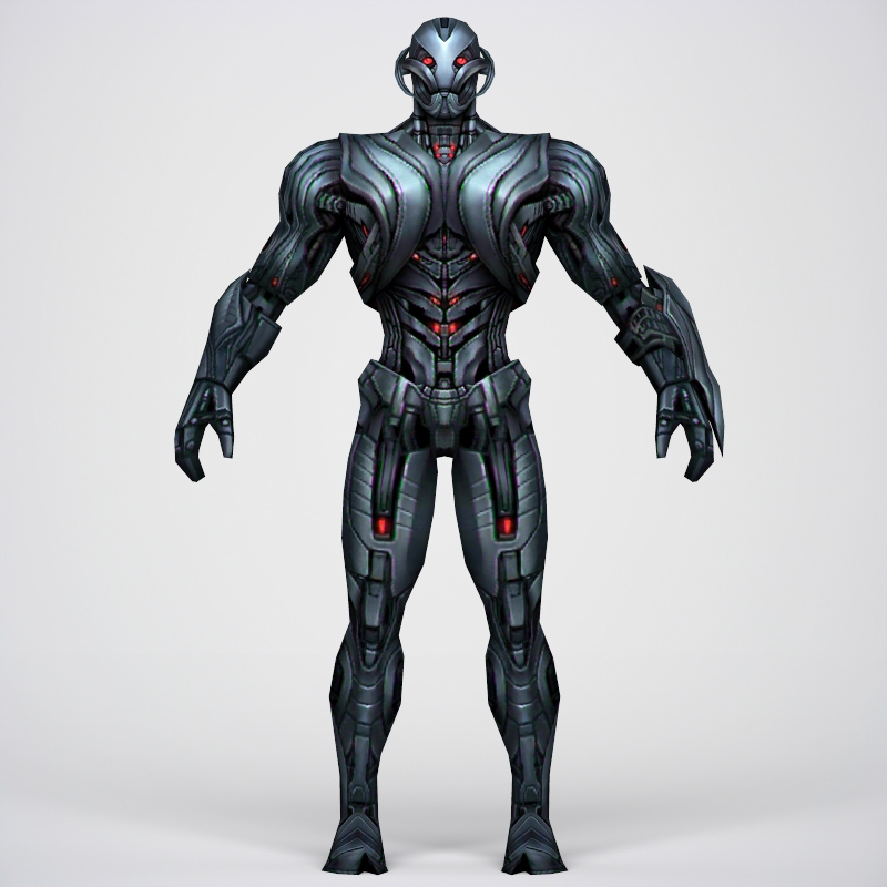 game ready superhero ultron 3d model 3ds max fbx c4d lwo ma mb obj 217788