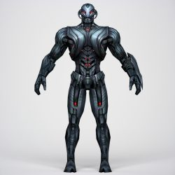 Game Ready Superhero Ultron 3d model 0