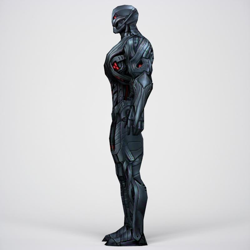 game ready superhero ultron 3d model 3ds max fbx c4d lwo ma mb obj 217789