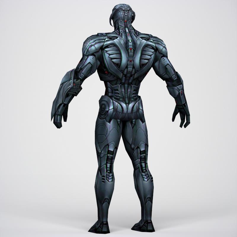 game ready superhero ultron 3d model 3ds max fbx c4d lwo ma mb obj 217790
