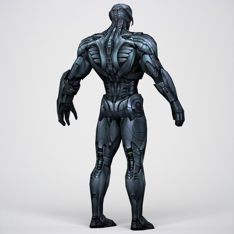 game ready superhero ultron 3d model 3ds max fbx c4d lwo ma mb obj 217791