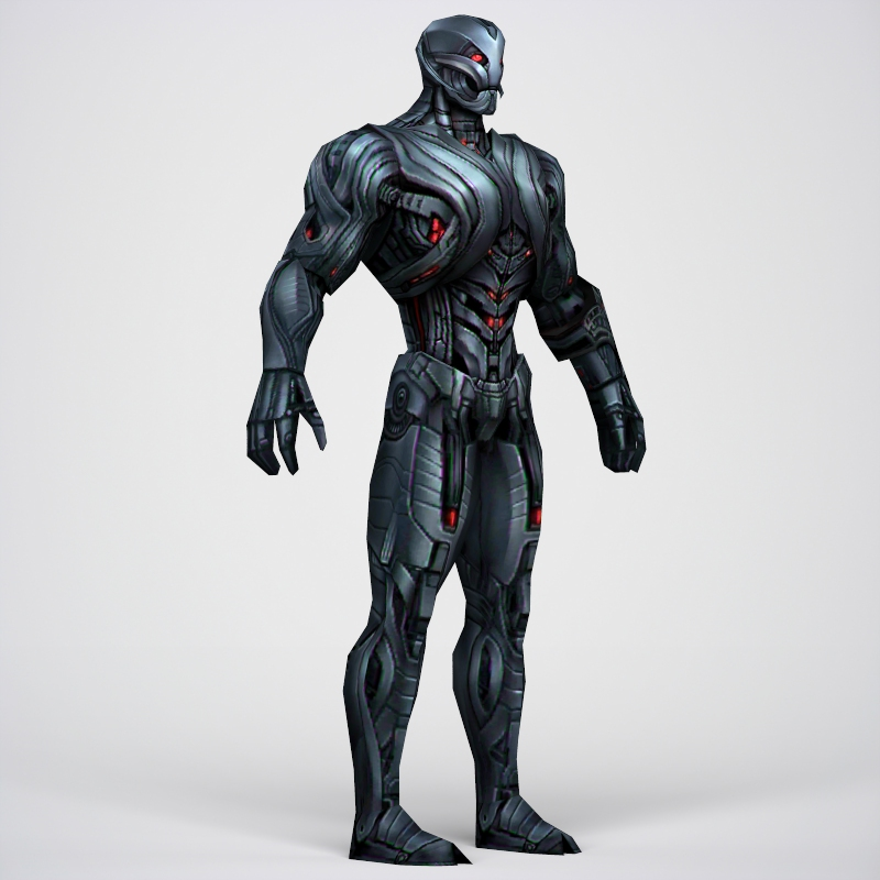 game ready superhero ultron 3d model 3ds max fbx c4d lwo ma mb obj 217792