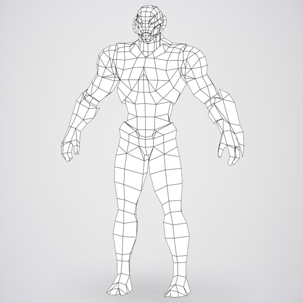 game ready superhero ultron 3d model 3ds max fbx c4d lwo ma mb obj 217794