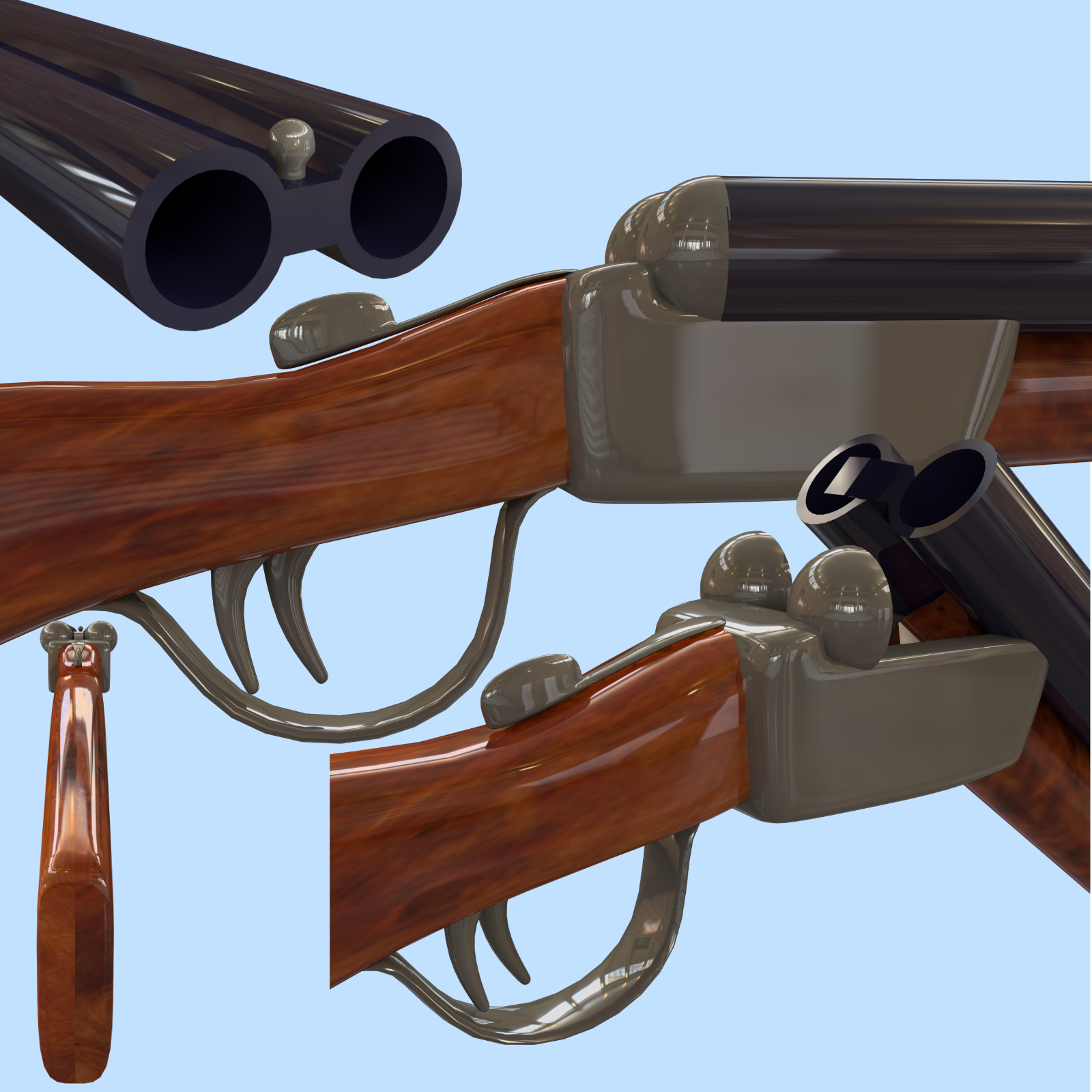 shotgun fbx and obj 3d model fbx 217807