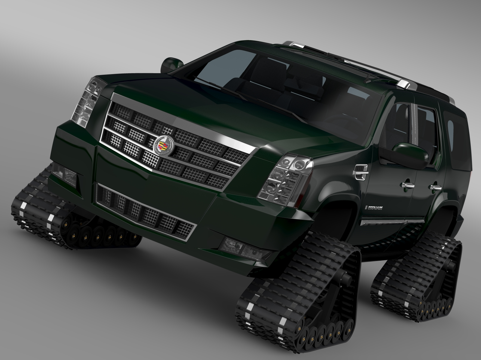 cadillac escalade crawler 3d model 3ds max fbx c4d