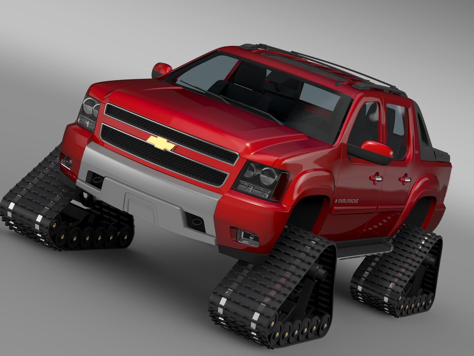 chevrolet avalanche z71 crawler 3d model 3ds max fbx c4d lwo ma mb hrc xsi obj 217844
