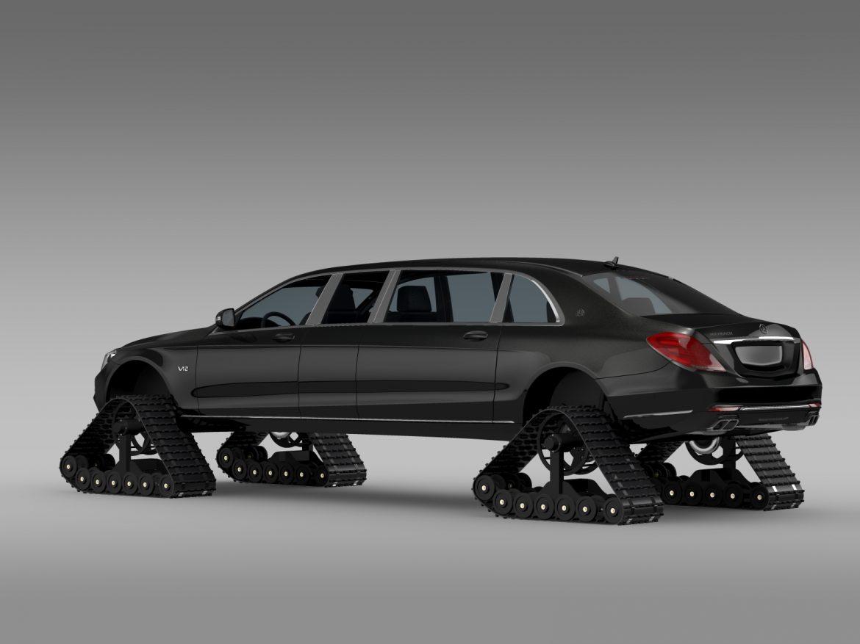 mercedes maybach pullman crawler 2016 3d model 3ds max fbx c4d lwo ma mb hrc xsi obj 217988
