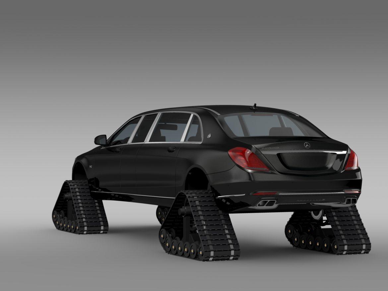 mercedes maybach pullman crawler 2016 3d model 3ds max fbx c4d lwo ma mb hrc xsi obj 217991