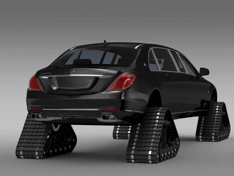 mercedes maybach pullman crawler 2016 3d model 3ds max fbx c4d lwo ma mb hrc xsi obj 217992
