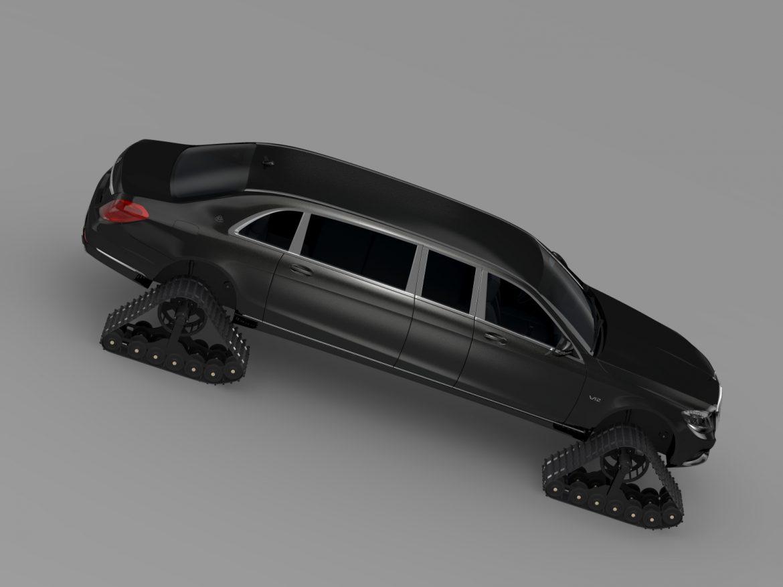 mercedes maybach pullman crawler 2016 3d model 3ds max fbx c4d lwo ma mb hrc xsi obj 217994