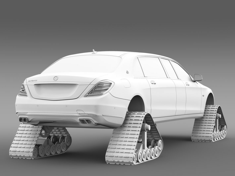 mercedes maybach pullman crawler 2016 3d model 3ds max fbx c4d lwo ma mb hrc xsi obj 217996