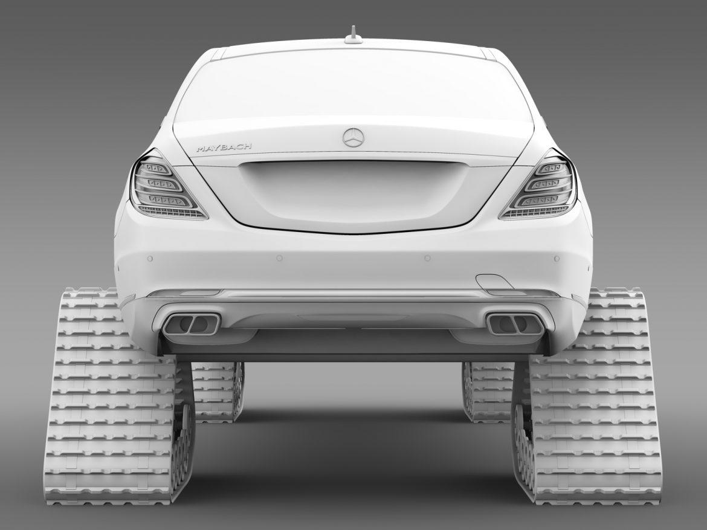mercedes maybach pullman crawler 2016 3d model 3ds max fbx c4d lwo ma mb hrc xsi obj 217998
