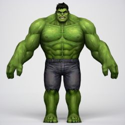 Game Ready Superhero Hulk 3d model 0