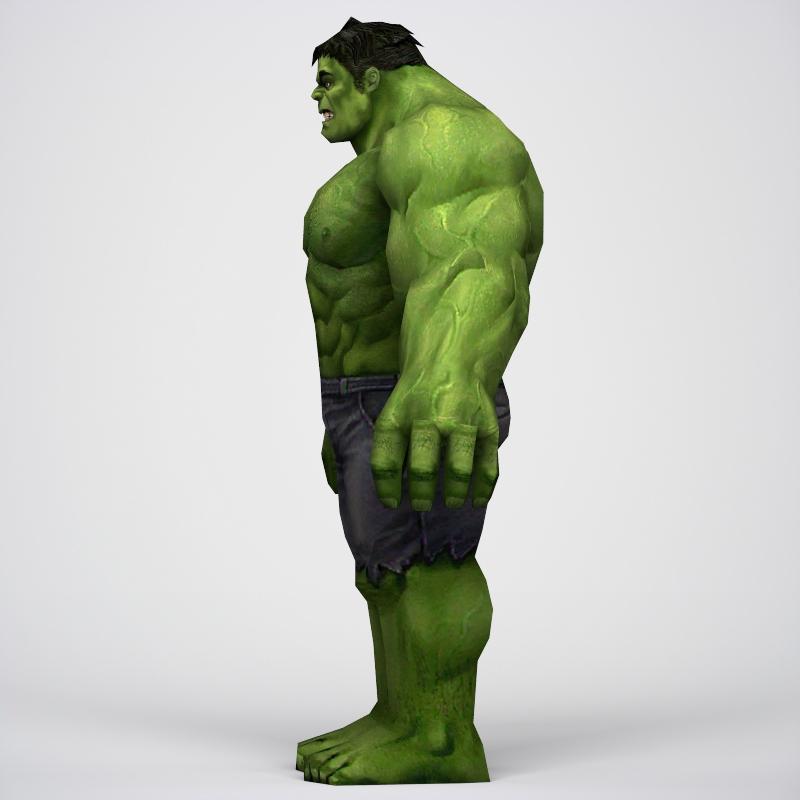 game ready superhero hulk 3d model 3ds max fbx c4d lwo ma mb obj 218045