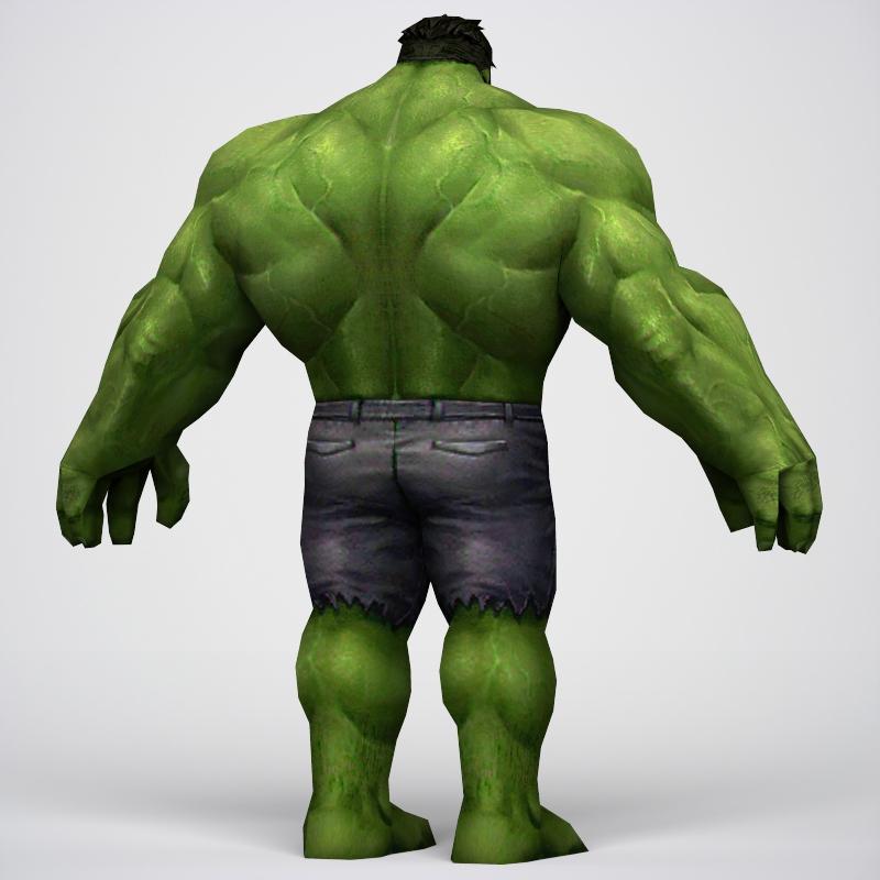 game ready superhero hulk 3d model 3ds max fbx c4d lwo ma mb obj 218047