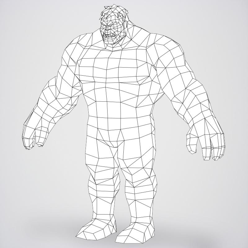 game ready superhero hulk 3d model 3ds max fbx c4d lwo ma mb obj 218050