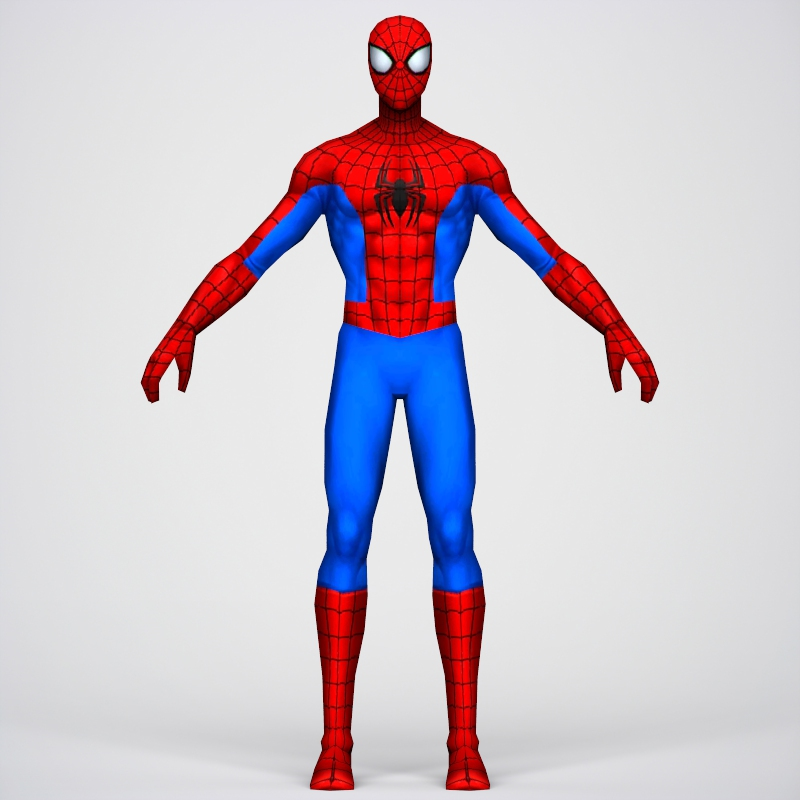 game ready superhero spider man 3d model 3ds max fbx c4d lwo ma mb obj 218052