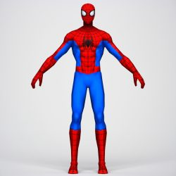 Game Ready Superhero Spider Man 3d model 0