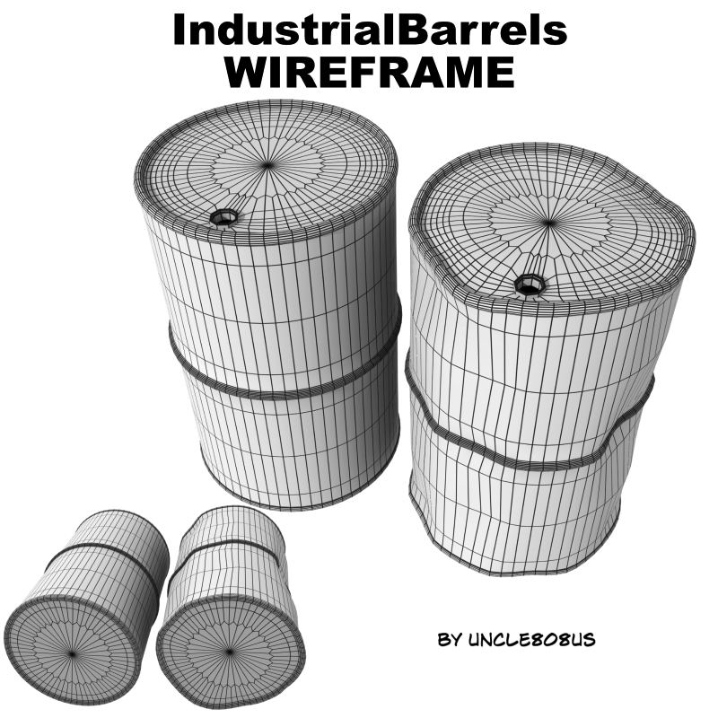 industrial barrels fbx and obj 3d model fbx 218100