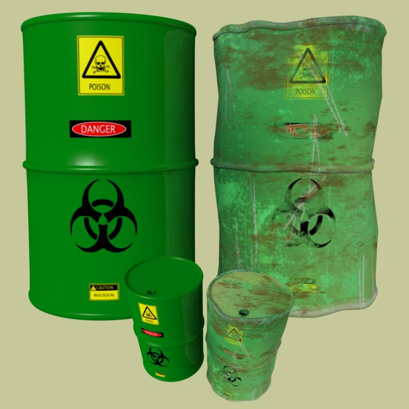 industrial barrels fbx and obj 3d model fbx 218101