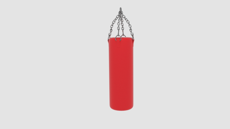 punch bag 3d model blend 218112