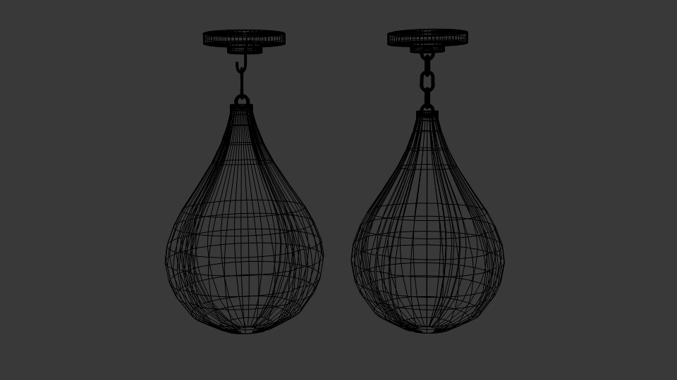 round punching bag 3d model blend 218124