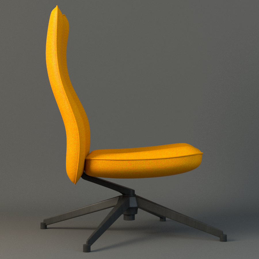 pilot chair knoll 3d model max fbx ma mb obj 218175