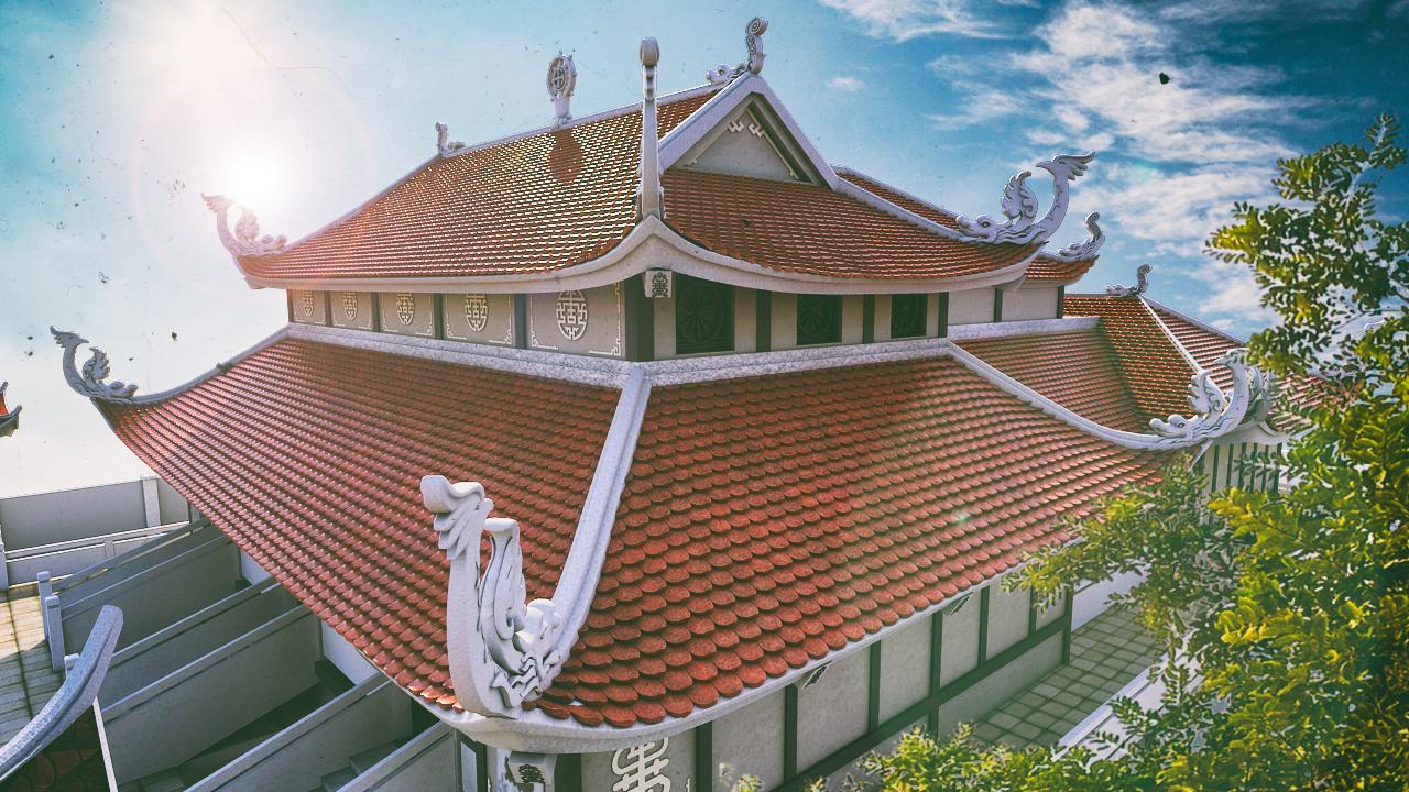 asia pagoda scence 3d model max fbx ma mb obj 218182