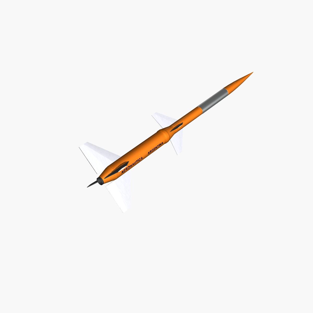 gamma centauro rocket 3d model 3ds dxf fbx blend cob dae x obj 218201