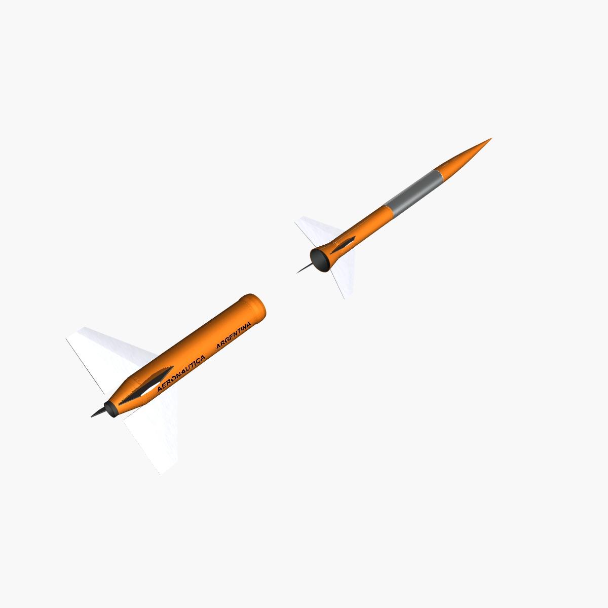 gamma centauro rocket 3d model 3ds dxf fbx blend cob dae x obj 218202