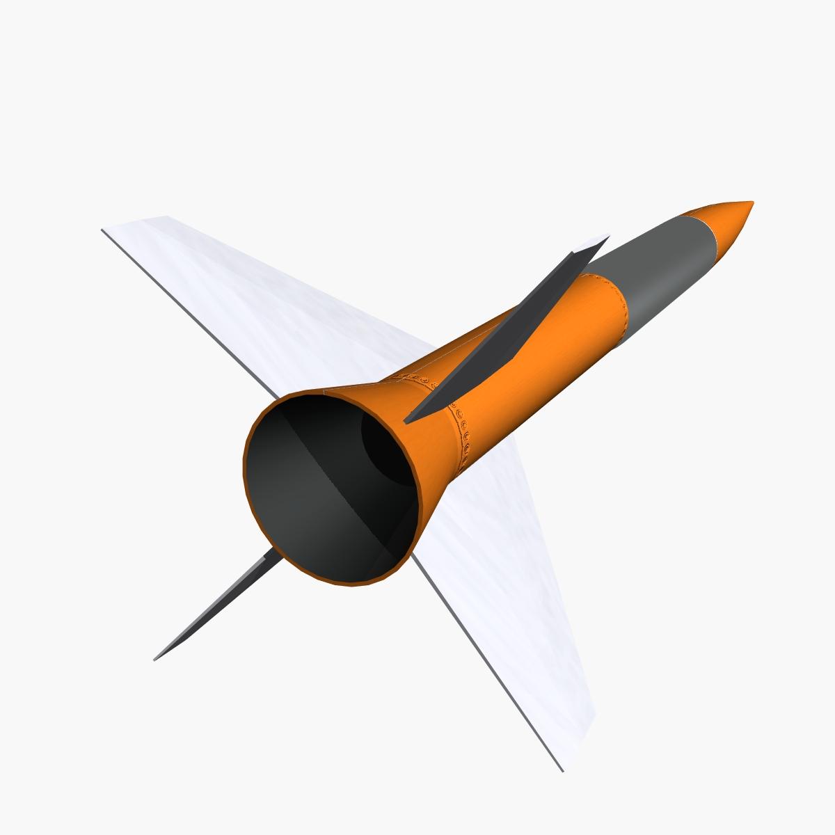 gamma centauro rocket 3d model 3ds dxf fbx blend cob dae x obj 218204