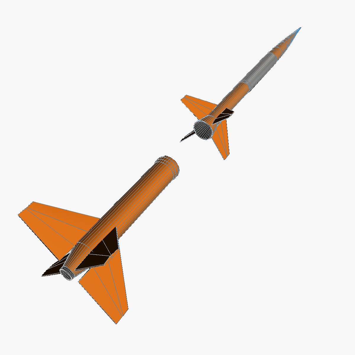 gamma centauro rocket 3d model 3ds dxf fbx blend cob dae x obj 218206