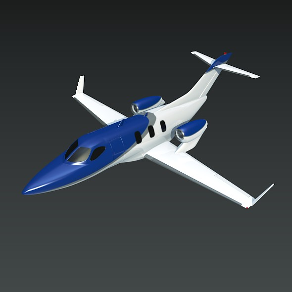 honda private jet concept 3d model 3ds fbx blend dae lwo obj 218219