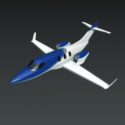 Honda private jet concept 3d model 0