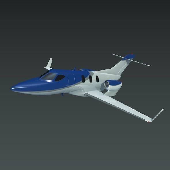 honda private jet concept 3d model 3ds fbx blend dae lwo obj 218221