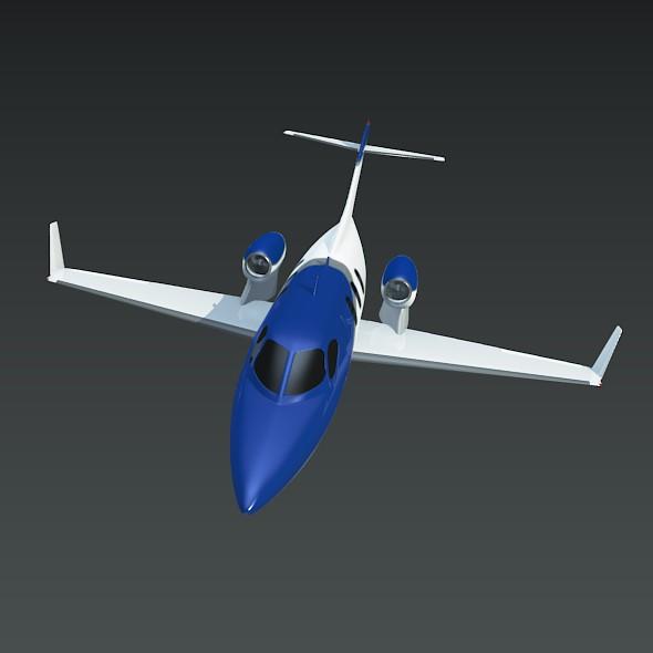 honda private jet concept 3d model 3ds fbx blend dae lwo obj 218222