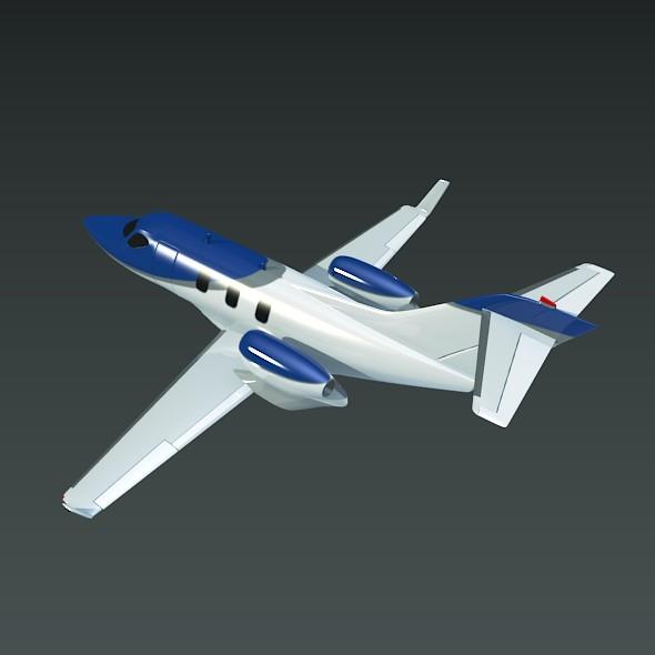 honda private jet concept 3d model 3ds fbx blend dae lwo obj 218223