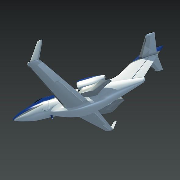 honda private jet concept 3d model 3ds fbx blend dae lwo obj 218224