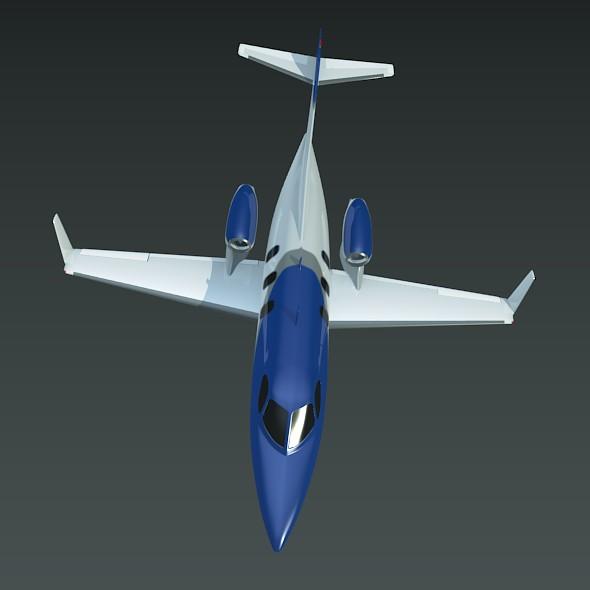 honda private jet concept 3d model 3ds fbx blend dae lwo obj 218226