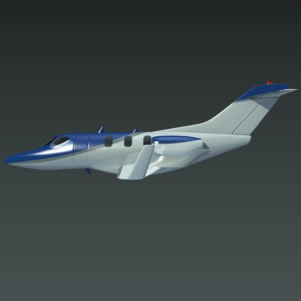 honda private jet concept 3d model 3ds fbx blend dae lwo obj 218227
