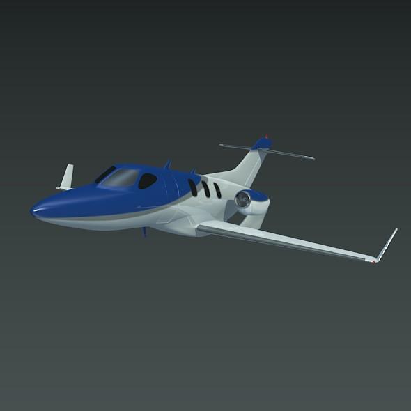 honda private jet concept 3d model 3ds fbx blend dae lwo obj 218228