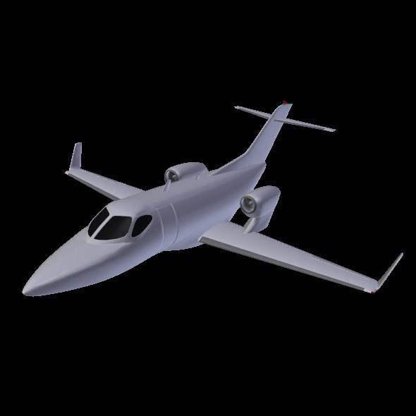 honda private jet concept 3d model 3ds fbx blend dae lwo obj 218229