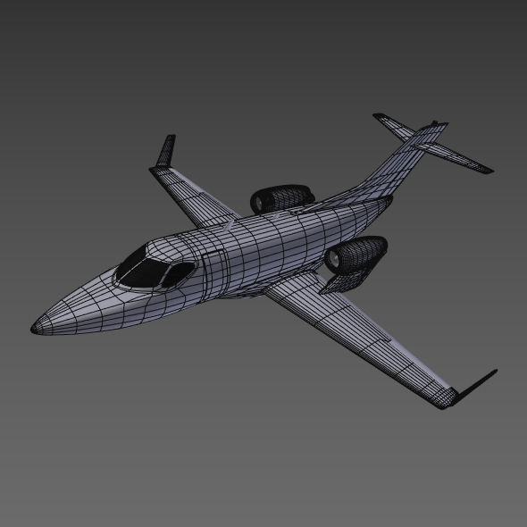 honda private jet concept 3d model 3ds fbx blend dae lwo obj 218230