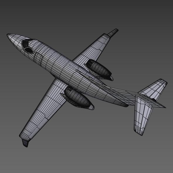 honda private jet concept 3d model 3ds fbx blend dae lwo obj 218231