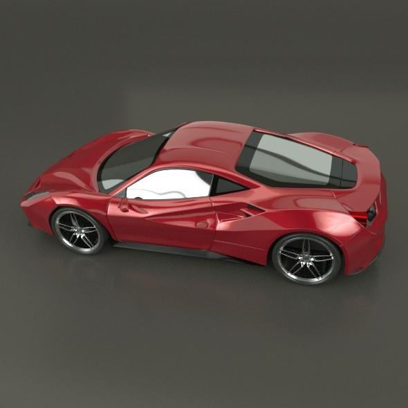 ferrari 488 gtb sports car restyled 3d model 3ds fbx blend dae lwo obj 218236