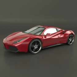 Ferrari 488 GTB sports car restyled ( 114.77KB jpg by futurex3d )