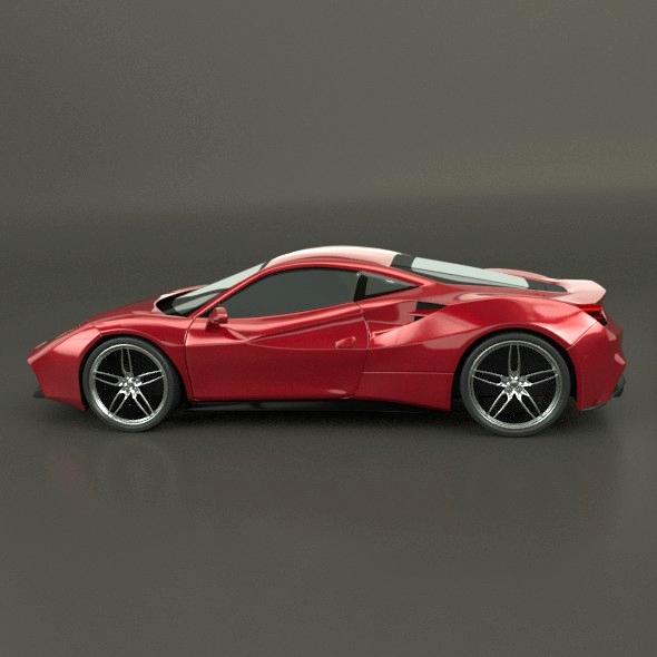 ferrari 488 gtb sports car restyled 3d model 3ds fbx blend dae lwo obj 218237