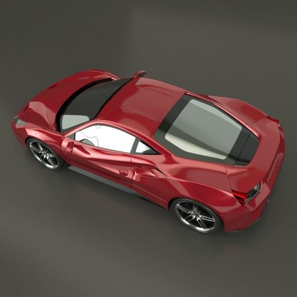 ferrari 488 gtb sports car restyled 3d model 3ds fbx blend dae lwo obj 218239