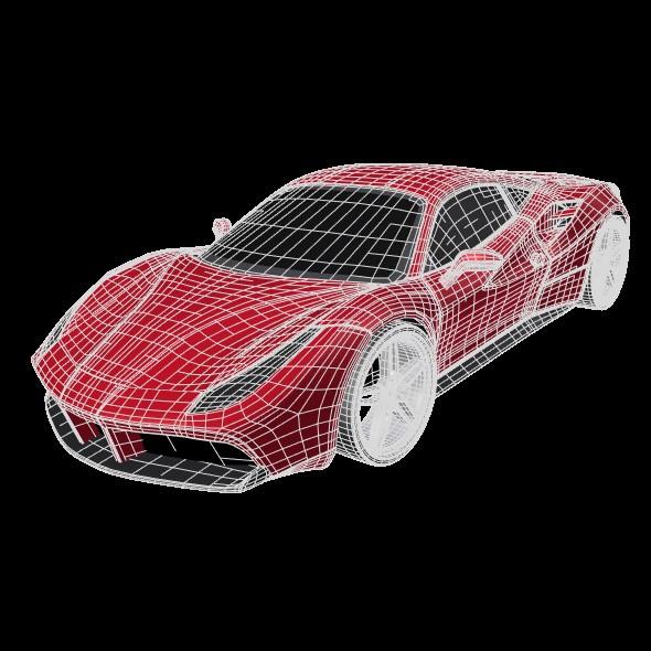 ferrari 488 gtb sports car restyled 3d model 3ds fbx blend dae lwo obj 218246